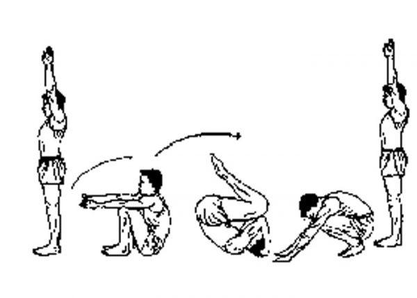 cara melakukan roll belakang posisi awal berdiri