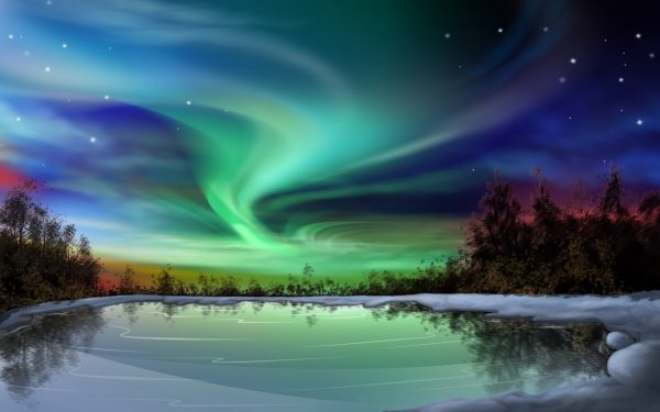 contoh factual report text about natural phenomena - aurora
